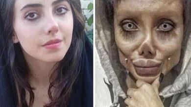 """Photo de Sahar Tabar, """"sosie zombie d'Angelina Jolie"""", a été condamnée à 10 ans de prison en Iran"""